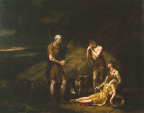 Imogen Discovered in the Cave of Belarius - George Dawe