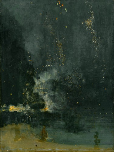 James Abbott McNeill Whistler, Nocturne in Black and Gold – The Falling Rocket,