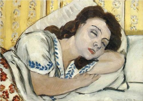 Portrait of Marguerite Sleeping - Henri Matisse