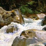 A torrent in Norway - John Singer Sargent