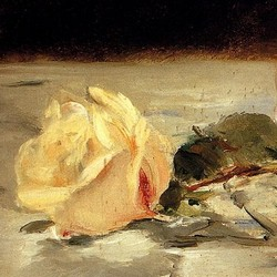Two roses - Édouard Manet