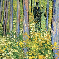 Undergrowth with two figures – Vincent van Gogh