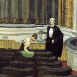 Two on the aisle - Edward Hopper