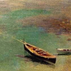 A boat in the waters of Capri - John Singer Sargent
