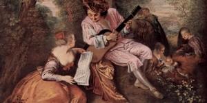 La canción de amor - Antoine Watteau