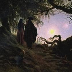 Home i dona contemplant la lluna. C.D. Friedrich
