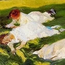 La siesta - Joaquín Sorolla