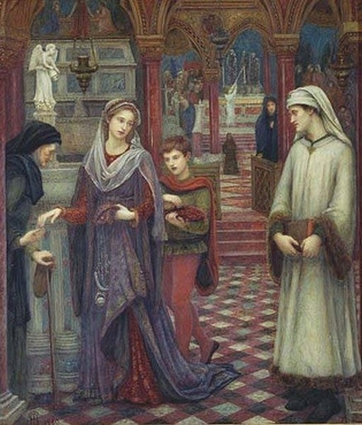 The First meeting of Petrarch and Laura - Maria Spartali Stillman