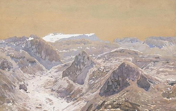In den schweizer Alpen - Eugen Bracht