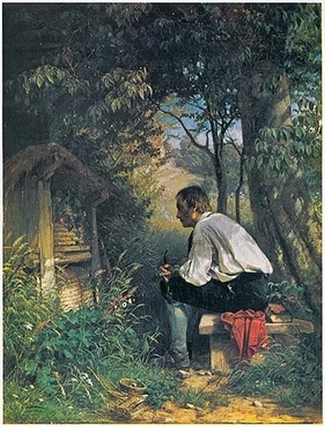 Der Bienenfreund - Hans Thoma