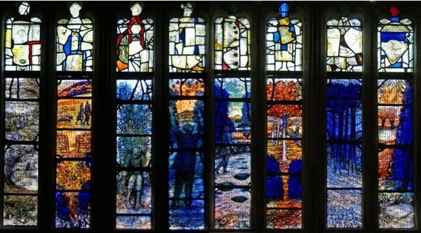 Gloucester Cathedral. Window in honour of Ivor Gurney