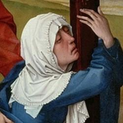 La crucifixió (detall) - Roger van der Weiden