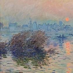 Soleil couchant sur la seine à Lavacourt - Claude Monet