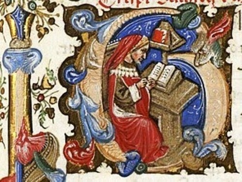 Initial letter G,  from a manuscript produced in northern Italy during the early 1400s.