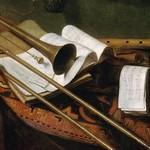 Stillleben mit Trompete und Floete - Franz Friedrich Franck