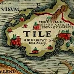 Thule a la carta marina d'Olaus Magnus (1539)