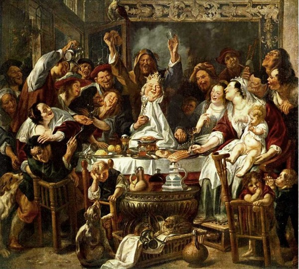 The King Drinks - Jacob Jordaens