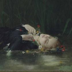 Mort d'Ophélie - Jean Baptiste Bertrand