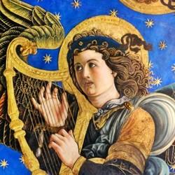 Detall dels frescos de la capella major de la Catedral de València - Francesco Pagano i Paolo di San Leocadio