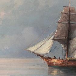 Calm early evening sea - Ivan Konstantinovich Aivazovsky