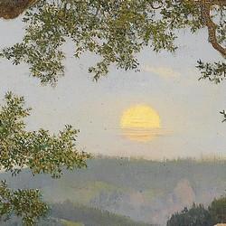 Schmuggler unter_einer alten Eiche bei Mondaufgang - Eduard_ Leonhardi