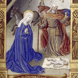 Heures de Charles VIII | Nativité - Maître de Jacques de Besançon