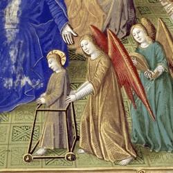 Heures de Charles VIII | Marie enfant - Maître de Jacques de Besançon