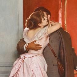 Le baiser - Auguste Toulmouche