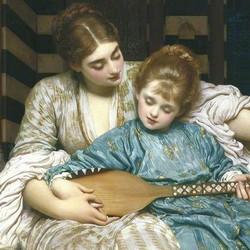 The music lesson - Frederic Leighton