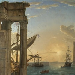 Seaport with the Embarkation of the Queen of Sheba - Claude Le Lorrain