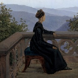 Frau auf dem Söller - Karl Gustav Carus