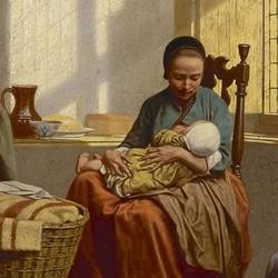 het voeden van der baby carel jozeph grips