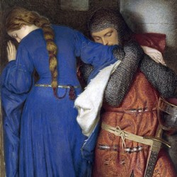 Hellelil and Hildebrand, the Meeting on the Turret Stairs - Frederic William Burton